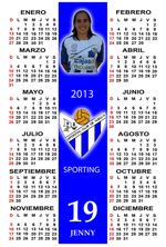 Calendario Jugadora